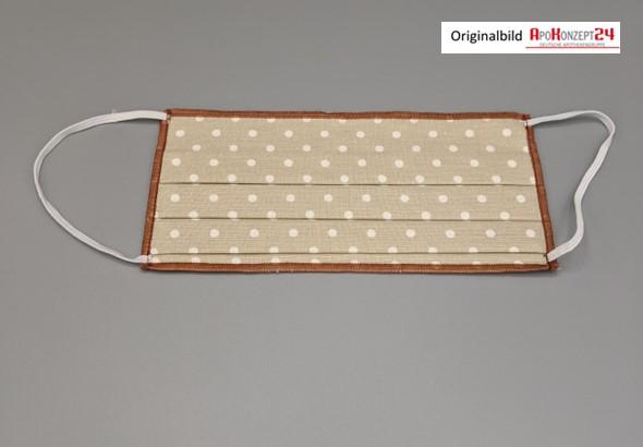 Mund-Nasen-Maske Modell (braun-braun)