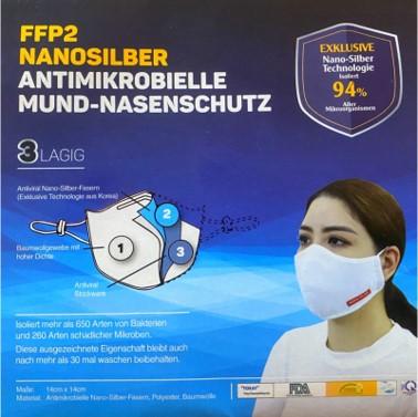 Mundschutzmaske FFP2 Nanosilber - Premium